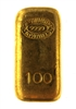 Johnson Matthey & Pauwels 100 Grams Cast 24 Carat Gold Bullion Bar 999.9 Pure Gold