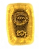 Johnson Matthey & Pauwels 10 Grams Cast 24 Carat Gold Bullion Bar 999.9 Pure Gold