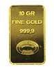Johnson Matthey & Pauwels - Kredietbank S.A Luxembourgeoise 10 Grams Minted 24 Carat Gold Bullion Bar 999.9 Pure Gold