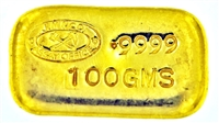 Johnson Matthey - J.M & CO. ASSAY OFFICE - 100 Grams Cast 24 Carat Gold Bullion Bar 999.9 Pure Gold