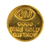 Johnson Matthey 1 Ounce 24 Carat Gold Bullion Round 999.9 Pure Gold
