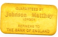 Johnson Matthey & Schweizerischer Bankverein 20 Grams Minted 24 Carat Gold Bullion Bar 999.9 Pure Gold