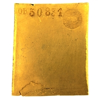J. - R. Charbonnier 286.4 Grams 24 Carat Gold Bullion Bar 999.8 Pure Gold with Assay Certificate (1948)