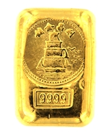 Lee Cheong, Hong Kong 1 Tael (37.42 Gr.) Cast 24 Carat Gold Bullion Bar (1.203 Oz.) 999.9 Pure Gold
