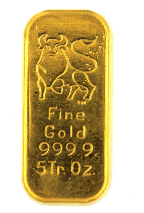 24 Carat Gold Bullion Bar 999 9 Pure