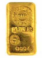 N.M Rothschild & Sons - Samuel Montagu & Co - 10 Tolas (116.6 Gr.) Cast 24 Carat Gold Bullion Bar 999.5 Pure Gold