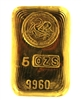 The Perth Mint 5 Ounces Cast 24 Carat Gold Bullion Bar 996.0 Pure Gold