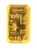 Rodhio Argentina 100 Grams Cast 24 Carat Gold Bullion Bar 999 Pure Gold