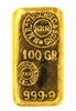 N.M Rothschild & Sons 100 Grams Cast 24 Carat Gold Bullion Bar 999.9 Pure Gold