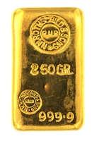 N.M Rothschild & Sons 250 Grams Cast 24 Carat Gold Bullion Bar 999.9 Pure Gold
