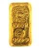 N.M Rothschild & Sons - Samuel Montagu & Co - 100 Grams Cast 24 Carat Gold Bullion Bar 999.9 Pure Gold