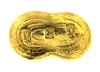 Chinese Sycee Yuanbao 1 Tael (37.42 Gr.) Cast 24 Carat Gold Bullion Boat Bar (1.203 Oz.) 999.9-1000 Pure Gold