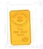Swiss Bank Corporation 10 Grams Minted 24 Carat Gold Bullion Bar 999.9 Pure Gold