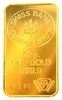 Swiss Bank Corporation 50 Grams 24 Carat Gold Bullion Bar 999.9 Pure Gold