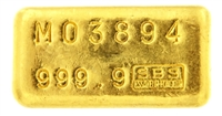 Société de Banque Suisse (S.B.S) 100 Grams Cast 24 Carat Gold Bullion Bar
