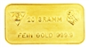 Schweizerischer Bankverein - Swiss Bank Corporation - 20 Grams Minted 24 Carat Gold Bullion Bar 999.9 Pure Gold