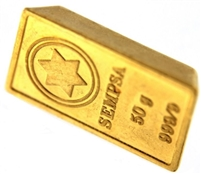 SEMPSA 50 Grams Minted 24 Carat Gold Bullion Brick Bar 999.9 Pure Gold