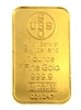 Union Bank of Switzerland 1 Ounce Minted 24 Carat Gold Bullion Bar 999.9 Pure Gold