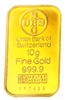Union Bank Of Swizerland 10 Grams Minted 24 Carat Gold Bullion Bar 999.9 Pure Gold