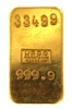UGDO 100 Grams Minted 24 Carat Gold Bullion Bar 999.9 Pure Gold