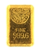 1947 US Assay Office New York 24.16 Ounces Cast 24 Carat Gold Bullion Bar 999.6 Pure Gold