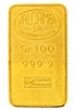 Valcambi 100 Grams Minted 24 Carat Gold Bullion Bar 999.9 Pure Gold