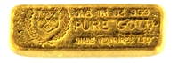 Wade Ventures LTD 1 Ounce Cast 24 Carat Gold Bullion Bar 999 Pure Gold