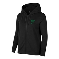 Oregon Ducks Nike Women's Full-Zip Left Chest Hoodie Black
