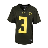 Oregon Ducks Nike Youth Replica Football Jersey Nightmare Green #3