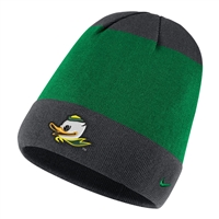 Oregon Ducks Nike Youth Mascot Knit Hat Green/Anthracite