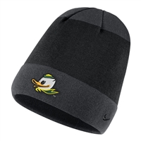 Oregon Ducks Nike Youth Mascot Knit Hat Black/Anthracite