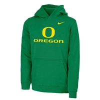 Oregon Ducks Nike Youth Logo Hood Apple Green