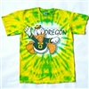 Oregon Ducks Tie Dye Mascot Tee