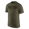 Oregon Ducks Nike Cotton Arched Tee Olive/Black