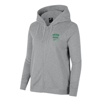 Oregon Ducks Nike Women's Full-Zip Left Chest Hoodie Gray