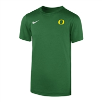 Oregon Ducks Nike Youth Dri-FIT Left Chest Tee Apple Green