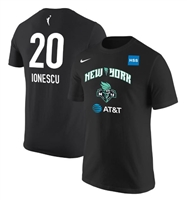 New York Liberty Sabrina Ionescu Nike Basketball Jersey Tee Black