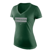 Oregon Ducks Nike Women's Basketball Tee Heather Green