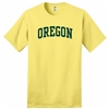 Oregon Ducks Classic Arched T-Shirt - Yellow