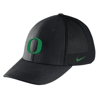 Oregon Ducks Nike Youth Logo Flex Fit Hat Black/Apple