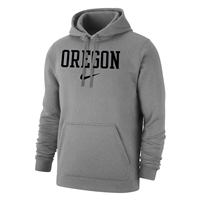 Oregon Ducks Nike Wordmark Club Hood Grey/Black
