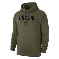 Oregon Ducks Nike Wordmark Club Hood Olive/Black