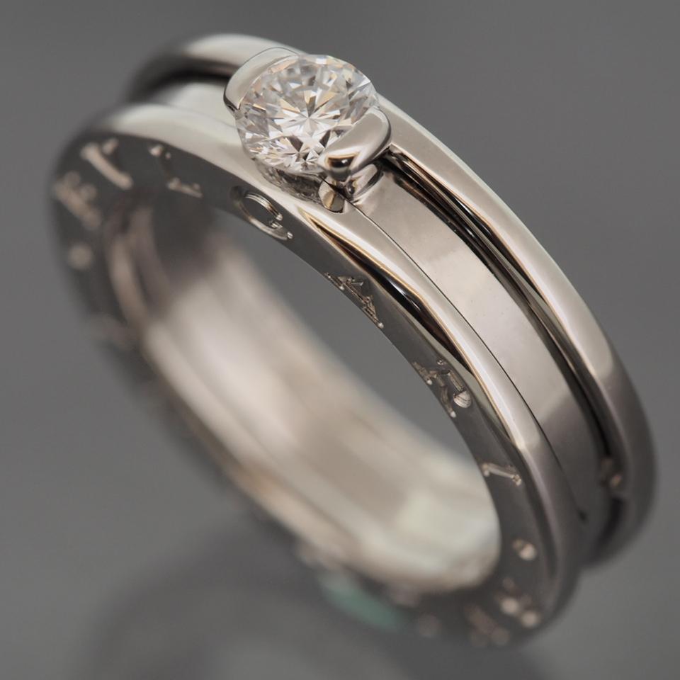 bvlgari 18k gold b zero solitaire 030 ct diamond ring 50 with bvlgari 18k gold b