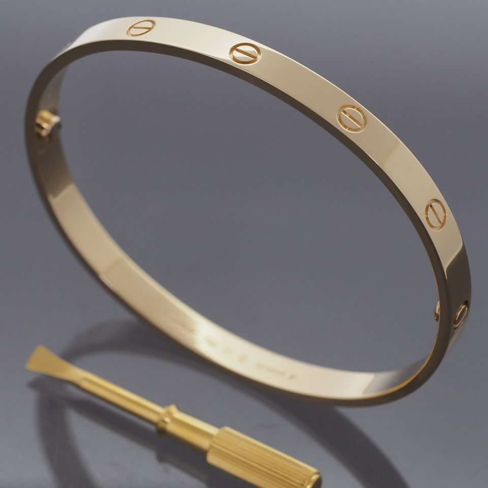 Cartier 18k Yellow Gold Gorgeous Love Bracelet Size 21 With Certificate And Box