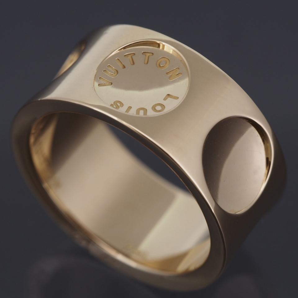 louis vuitton ring. louis vuitton 18k yellow gold large empreinte ring 57 with certificate and box louis vuitton ring