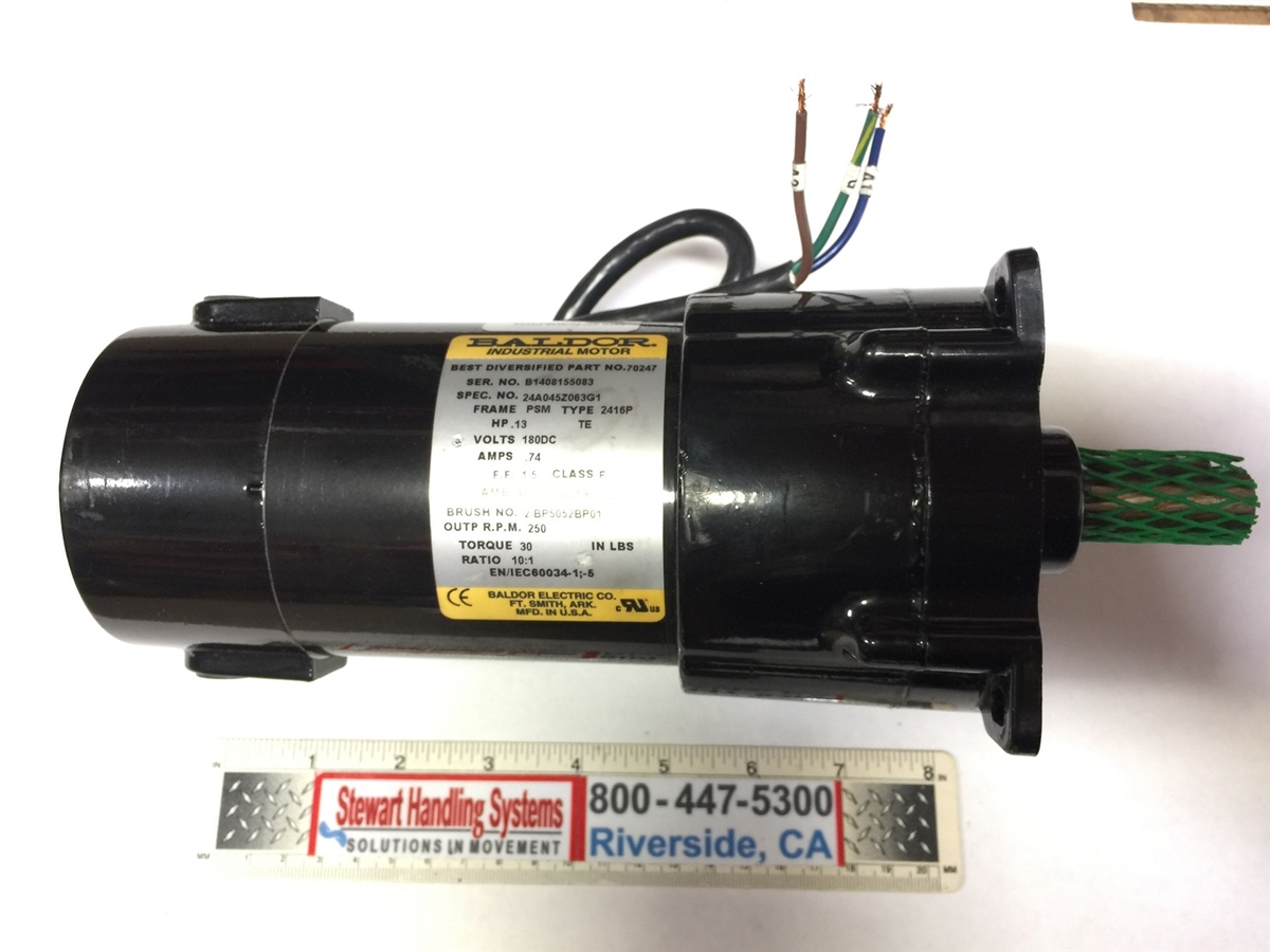 Dc baldor motor part 70247 for Baldor industrial motor parts
