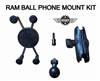 Motorcycle Phone Mount with RAM Ball