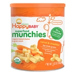 Superfood Munchies Cheddar Cheese with Carrots 6 pack - 1.63 oz. (Happy Baby)