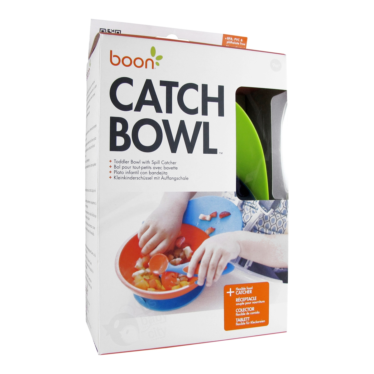 Catch Bowl Toddler With Spill Catcher Green Blue Boon Pulp Feeder