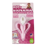 Special Edition Pink Baby Banana Infant Teething Toothbrush (Banana Brush)